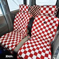 Z-style2トーンスクエアチェックシートカバー全席セット7