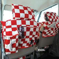 Z-style2トーンスクエアチェックシートカバー全席セット9