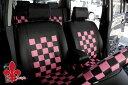 ミラ ココアに!★軽自動車汎用★ブラック&ピンク送料無料!シートカバーダイハツ DAIHATSU かわいい 10P03Dec16
