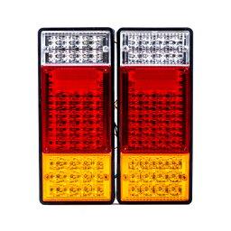 <strong>トラック</strong> 用 LED <strong>テールランプ</strong> 44LED 88連 12V/24V 2個 セット 大型<strong>トラック</strong> LED<strong>テールランプ</strong> 【バイク用品】