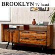 ブルックリンスタイル BROOKLYN テレビボード TVボード(テレビ台 天然木 tvボード リビングボード 収納 無垢材 ローボード AVボード ヴィンテージ ビンテージ デザイナーズ おしゃれ オシャレ かっこいい リビング)