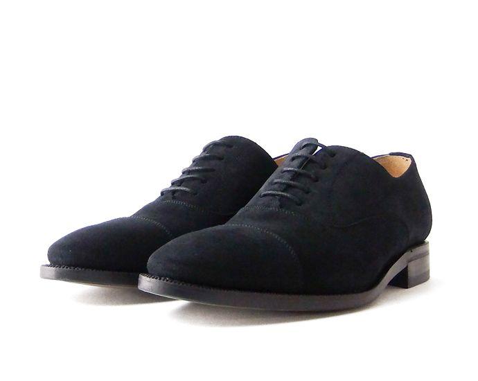 ストレートチップ (スエードブラック) Berwick ( バーウィック) グッドイヤー メンズ 本革 レザー ビジネスシューズ 革靴(おしゃれ 革 黒 くつ 靴 シューズ 男性靴