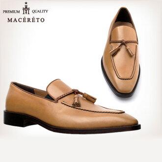 業務的鞋子底革皮鞋棕色流蘇 Macereto | 時尚滑男裝品牌紳士鞋休閒男裝鞋休閒鞋鞋流蘇鞋棕色棕色冬季皮革商務條紋流蘇包子皮革鞋