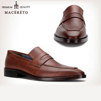 業務唯一皮革便鞋棕色商務皮鞋硬幣 Macereto (磨損的雙關流行了好滑男裝鞋酷黑色高跟鞋品牌男裝鞋休閒鞋男子酷休閒鞋鞋鞋巴士籠春)