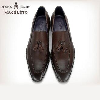 業務唯一皮革無賴暗棕色商務皮鞋流蘇 Macereto (磨損的雙關流行了好滑男裝鞋酷黑色高跟鞋品牌男裝鞋休閒鞋男子酷休閒鞋鞋鞋巴士籠春)