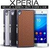 Xperia Z3 (SO-01G/SOL26/401SO) / Xperia Z3 Compact (SO-02G) / Xperia Z4 (402SO/SO-03G/SOV31) カーボンスキン ハードケース【 エクスペリアz4 カバー コンパクト エクスペリアz3 エクスペリア カバー スマホ ケース スマホケース レザー so01g so02g so03g】