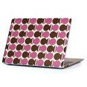 MacBook Air 13inch 2018 専用 デザインハードケース A1932 Apple マックブック エア ノートパソコン カバー ケース ハードカバー クリア 透明 アクセサリー 保護 008930 ピンク 模様 茶色 ブラウン