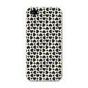 iPhone SE iPhone5SE アイホーン softbank ソフトバンク スマホ カバー 全機種対応 あり ケース スマホケース スマホカバー PC ハードケース ハート 模様 黒 ブラック チェック・ボーダー 007837
