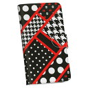 iphone6 iphone 6 アイフォーン softbank ソフトバンク 手帳型 スマホ カバー 全機種対応 あり カバー レザー ケース 手帳タイプ フリップ ダイアリー 二つ折り 革 チェック・ボーダー 柄 模様 水玉 赤 レッド 008555