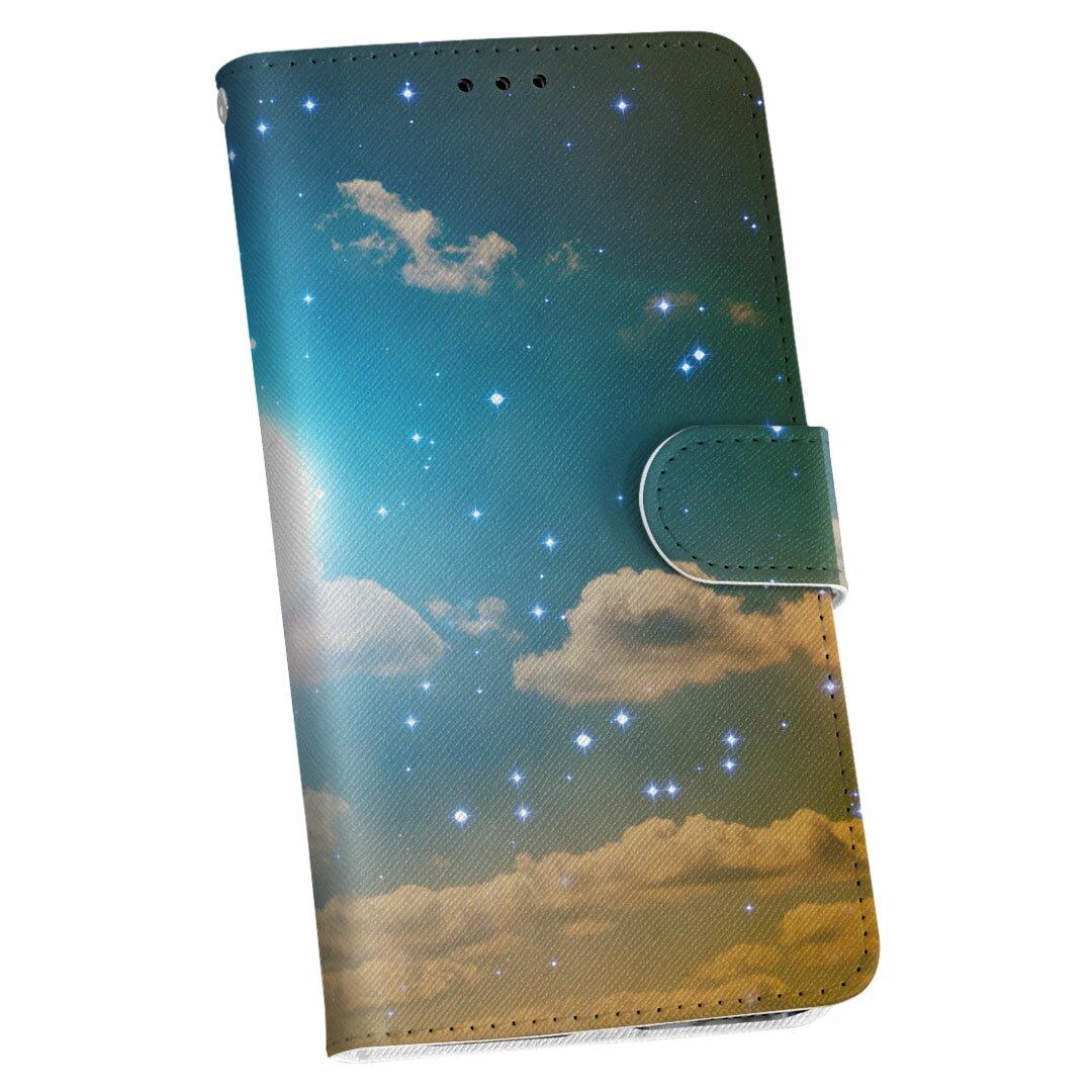 F-03F Disney Mobile ディズニーモバイル f03f docomo ドコモ 手帳型 スマホ カバー 全機種対応 あり カバー レザー ケース 手帳タイプ フリップ ダイアリー 二つ折り 革 011807 空 月 星