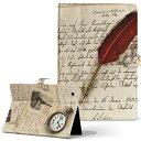 AQUOS PAD SHT21 SHARP アクオスパッド sht21 Sサイズ 手帳型 タブレットケース カバー レザー フリップ ダイアリー 二つ折り 革 002662 外国 手紙 時計