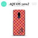 AQUOS zero2 SH-01M SHV47カバー ケース ハードケース チェック A 赤 イニシャル メンズ レディース キッズ おしゃれ かわいい かっこいい nk-zero2-431i