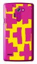 【送料無料】 ブロック イエロー×ピンク (クリア) / for isai FL LGL24/au 【Coverfull】【ハードケース】au isai fl lgl24 カバー isai fl lgl24 ケース lgl24 ケース lgl24 カバー lgl24ケース lgl24カバー 花 和柄 かわいい 迷彩 かっこいい 激安