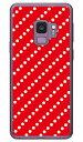 【送料無料】 ドットストライプ レッド×ホワイト (ソフトTPUクリア) / for Galaxy S9 SC-02K・SCV38/docomo・au 【SECOND SKIN】gala..