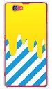 【送料無料】 DRIP イエロー/ブルー (クリア) / for Xperia Z1 f SO-02F/docomo 【SECOND SKIN】【ハードケース】so-02f ケース so-02f カバー xperia z1 f so-02f ケース xperia z1 f so-02f カバー エクスペリア z1 f ケース
