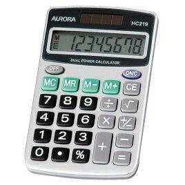 オ-ロラジャパン ハンディ電卓 8桁表示 HC219の商品画像