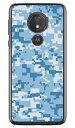 【送料無料】 DIGITAL camouflage ブルー (クリア) design by Moisture / for moto g7 POWER XT1955/MVNOスマホ(SIMフリー端末) 【..