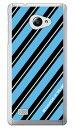 【送料無料】 ROTM Stripe ターコイズ (クリア) design by ROTM / for VAIO Phone A VPA0511S・Biz VPB0511S/MVNOスマホ(SIMフリー..