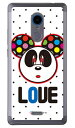 【送料無料】 Love Panda ブラックドット (クリア) design by Moisture / for ZTE Blade V580/MVNOスマホ(SIMフリー端末) 【SECOND SKIN】v580 blade zte blade v580 ケース zte blade v580 カバー v580ケース v580カバー zte ブレード v580 スマホケース