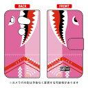 【送料無料】 手帳型スマートフォンケース シャーク ピンク / for ARROWS NX F-02...