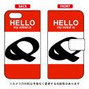 【送料無料】 手帳型スマートフォンケース Cf LTD ハロー イニシャル アルファベット Q (レッド) / for OPPO Reno A/MVNOスマホ(SIM..