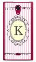 【送料無料】 Cf LTD イニシャル アルファベット K ピンク (クリア) / for AQUOS CRYSTAL X 402SH/SoftBank 【Coverfull】402sh ケース 402sh カバー aquos crystal x ケース aquos crystal x カバー アクオスクリスタルx ケース アクオスクリスタルx カバー