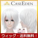 【送料無料】 CaseEden コスプレ ウィッグ ライトシルバー 銀白色 銀髪 ショート & ウィッグネット 2個セット