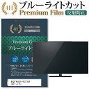 東芝 REGZA 43Z730X [43インチ] 機種で使える ブルーライトカット 反射防止 液晶TV 保護フィルム メール便送料無料