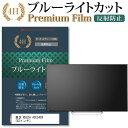 東芝 REGZA 43C340X [43インチ] 機種で使える ブルーライトカット 反射防止 液晶TV 保護フィルム メール便送料無料