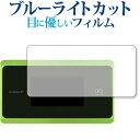 Speed Wi-Fi NEXT WX06 / NEC 専用 ブルーライトカット 反射防止 液晶保護フィルム 指紋防止 気泡レス加工 液晶フィルム メール便送料無料 母の日 プレゼント 実用的