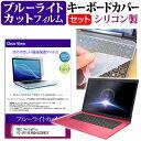 NEC VersaPro PC-VK18EXNDA5GDBWZY ブルーライトカット 指紋防止 液晶保護フィルム と キーボードカバー セット 保護フィルム キーボード保護 メール便なら送料無料