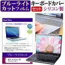 東芝 dynabook B65 [15.6インチ] 機種で使える ブルーライトカット 指紋防止 液晶保護フィルム と キーボードカバー セット キーボード保護 メール便送料無料