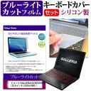 ドスパラ GALLERIA GCR2070RGF 15.6インチ 機種で使える ブルーライトカット 指紋防止 液晶保護フィルム と キーボードカバー セット メール便送料無料