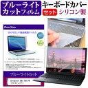 Dynabook dynabook B65 B65/M [15.6インチ] 機種で使える ブルーライトカット 指紋防止 液晶保護フィルム と キーボードカバー セット メール便送料無料