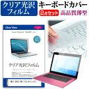 MSI GF63 8R [15.6インチ] 機種で使える 透過率96% クリア光沢 液晶保護フィルム と キーボードカバー セット キーボード保護 メール便送料無料