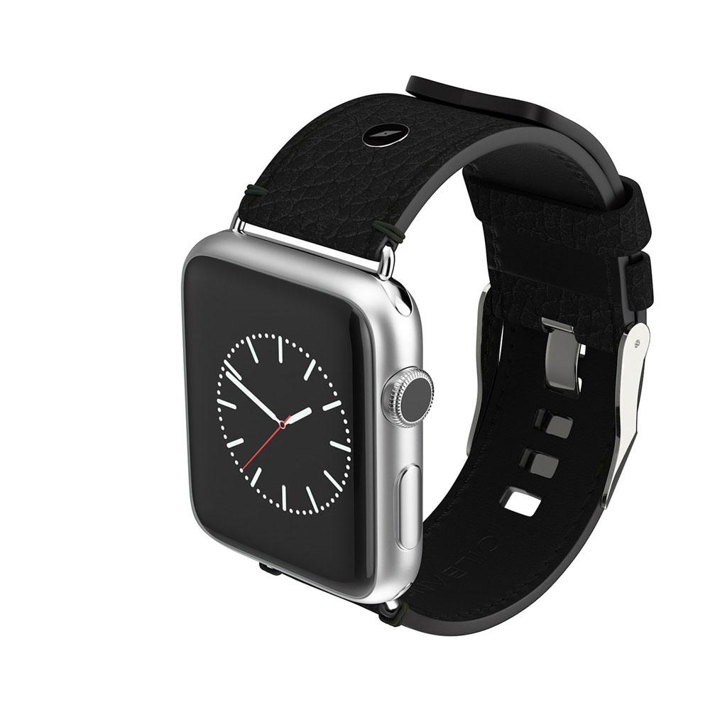 WATCH STRAP SCOTTS Black/Brown 腕時計バンド 牛革 レザー Apple Wacth
