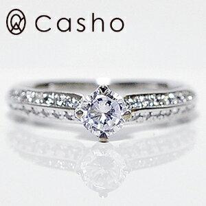 "【CASHO-BRIDAL】pt900 DIAMOND RING 0.45 プラチナ ダイヤモンドリング 0.45UP""サイドメレ ラグジュアリー ストレートライン""エンゲージリング/ブライダル/婚約指輪"