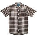 送料無料 IRIE LIFE アイリーライフ Check Roll Up Shirt 半袖 チェックシャツ ブラウン