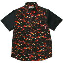 送料無料 NINE RULAZ LINE ナインルーラーズ Light District Shirt シャツ 半袖 レッド NRSS16-025