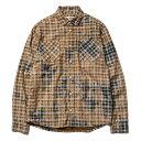 送料無料 NINE RULAZ LINE ナインルーラーズ Washed Check Shirt 長袖 シャツ チェック NRAW16-050 ネイビー