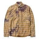 送料無料 NINE RULAZ LINE ナインルーラーズ Washed Check Shirt 長袖 シャツ チェック NRAW16-050 レッド