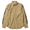 送料無料 NINE RULAZ LINE ナインルーラーズ Military Shirt ミリタリーシャツ 長袖 NRAW16-031 カーキ