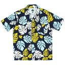 送料無料 7UNION 7ユニオン KONA Shirt 半袖 ハワイアンシャツ アロハシャツ IAVW-023C ネイビー