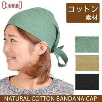 Natural cotton bandana caps 10P13oct13_b