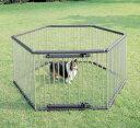 パイプ製ペットサークル UCS-106 (高さ100cm) 送料無料 犬 サークル ステンレス製 強度 屋外 野外 室外 ハウス ドッグサークル ペットサークル 囲い 柵 ペット用品 アイリスオーヤマ キャットランド 楽天