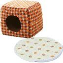 ショッピングホットカーペット キューブハウス Sサイズ PCHJ320+ホットカーペット 丸型 PHK-S ペットベッド ベッド ハウス ペット 犬 猫 あったか 秋冬 冬用 ペット用 犬用 猫用 かわいい カーペット アイリスオーヤマ