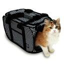 ポータブル キャリー ブラック 猫 ケージ キャット 折り畳み 猫折り畳み 【TC】 [LP]