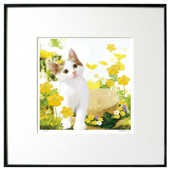 猫夢アート版画「キンポウゲ」キジシロ