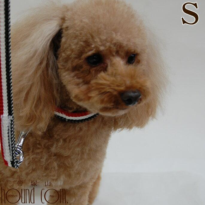 犬首輪小型犬ASHUトリコロールカラーSパピヨン子犬軽量ブランドアッシュ犬用首輪お散歩可愛い犬のグッ