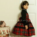 A child dress kids four circle tartan check change one piece graduation ceremony, a graduation ceremony, an entrance ceremony Seven-Five-Three Festival Halloween kids child [outing] [long sleeves] [knee-length] [the entrance to school that is a graduate] [casual] [] [black] [red]